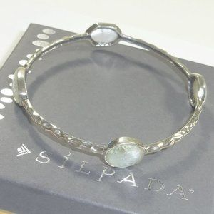 Silpada Four Moons Mother of Pearl Bangle Bracelet